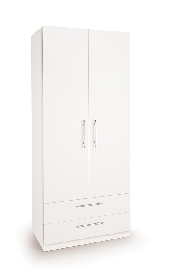 Acton 2 Door Wardrobe with 2 Drawers ( H151220 )