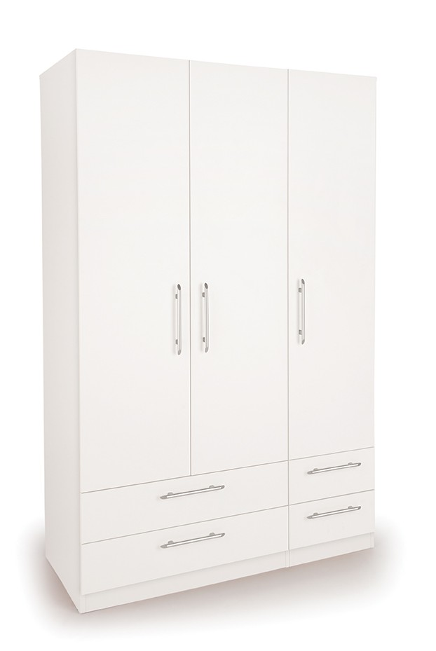 Acton 3 Door Wardrobe with 4 Drawers ( H151223 )