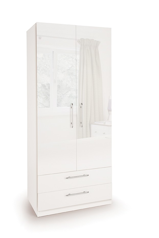 Angel 2 Door Wardrobe with 2 Drawers ( H151232 )