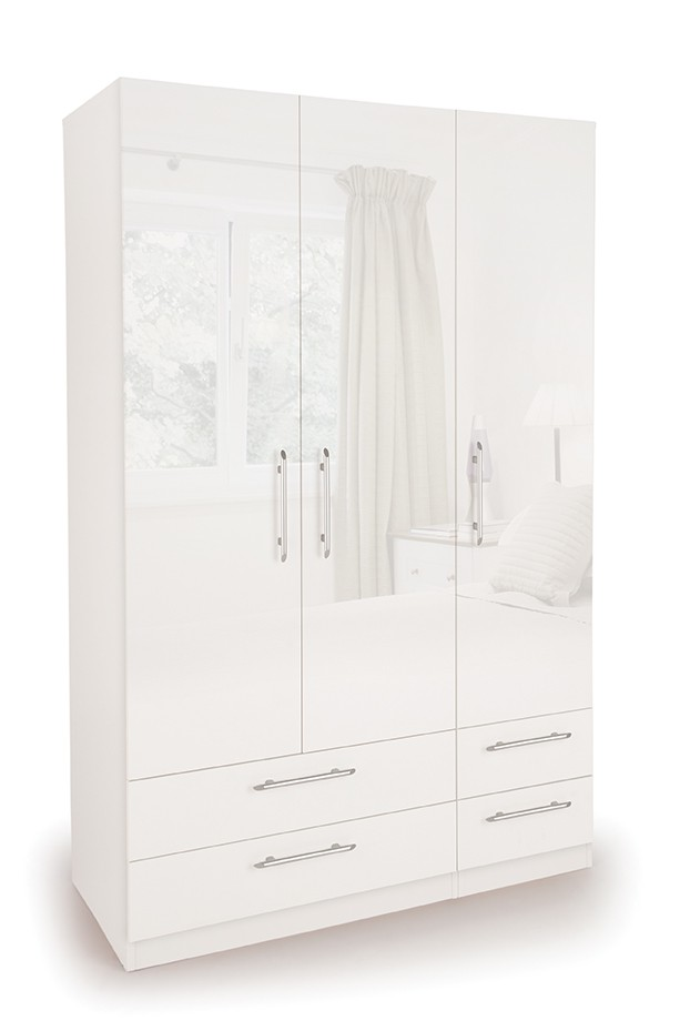 Angel 3 Door Wardrobe with 4 Drawers ( H151235 )