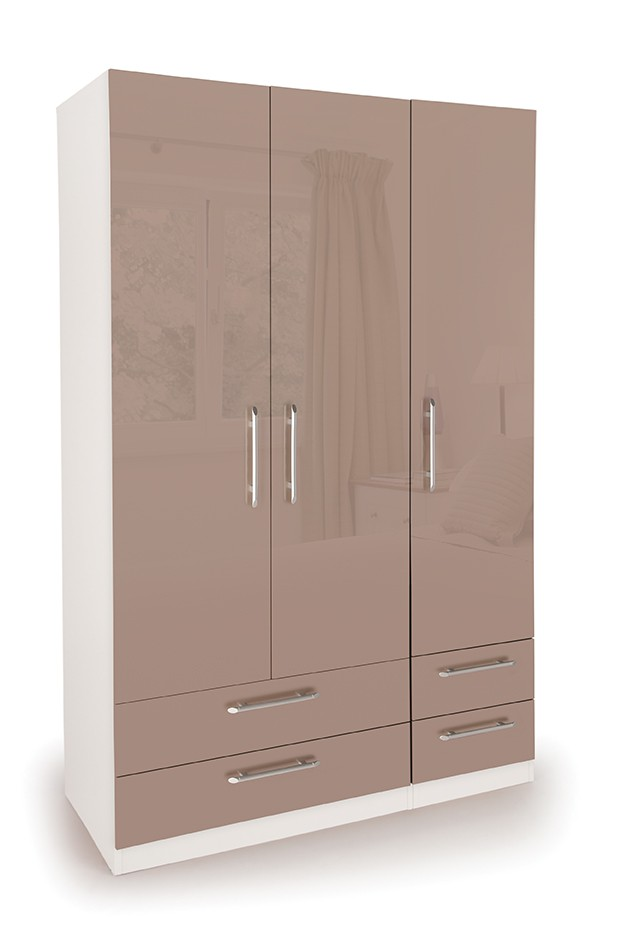 Camden 3 Door Wardrobe with 4 Drawers ( H151247 )