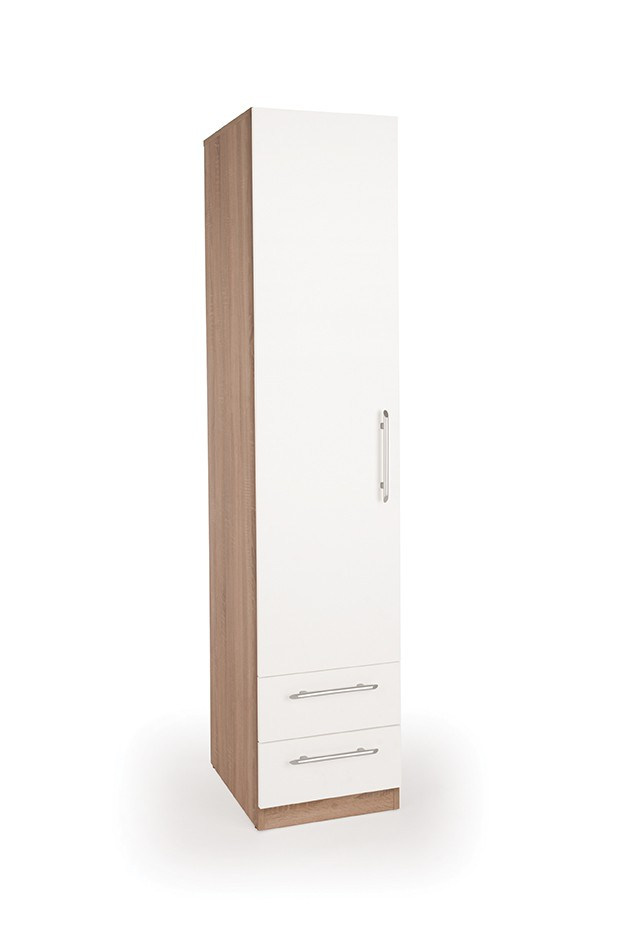 Hyde 1 Door Wardrobe with 2 Drawers ( H151277 )