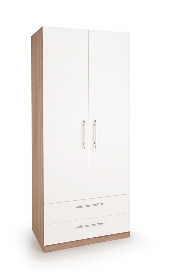 Hyde 2 Door Wardrobe with 2 Drawers ( H151280 )