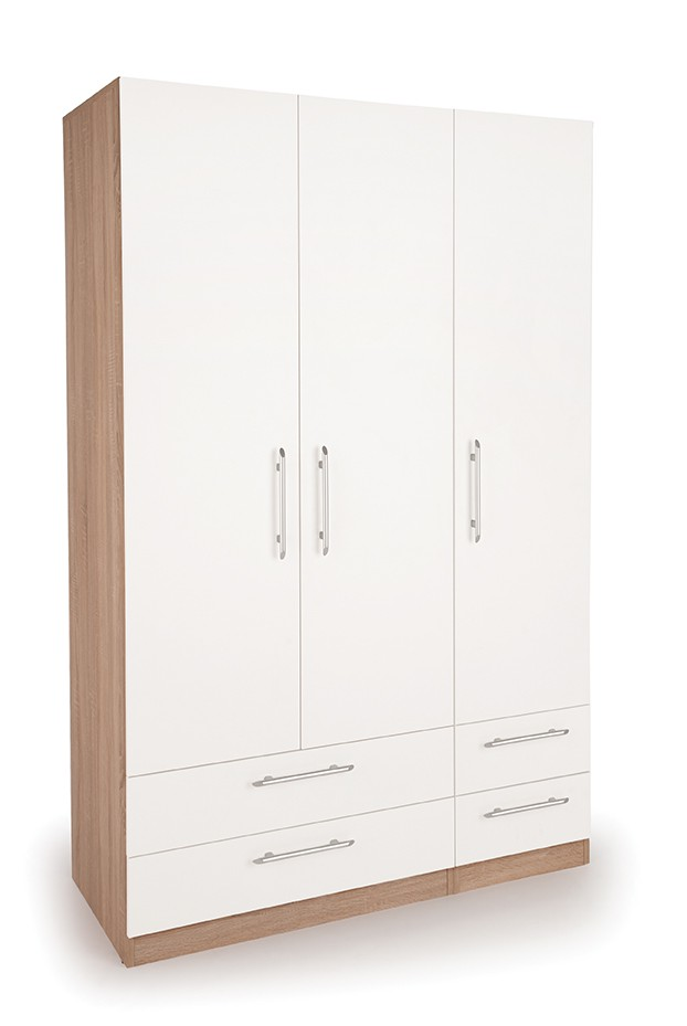 Hyde 3 Door Wardrobe with 4 Drawers ( H151283 )