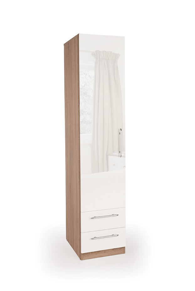 Kew 1 Door Wardrobe with 2 Drawers ( H151289 )