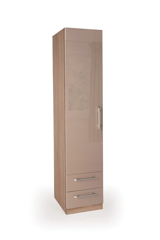 Oval 1 Door Wardrobe with 2 Drawers ( H151301 )
